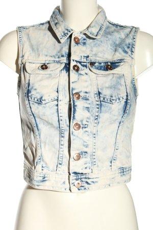 H&M DENIM Gilet en jean bleu-blanc gradient de couleur style décontracté