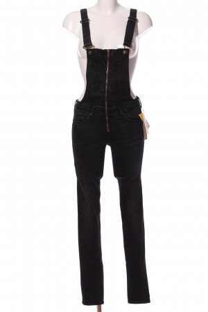 H&M DENIM Overall zwart casual uitstraling