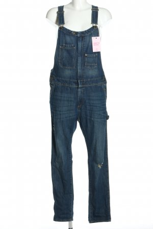 H&M DENIM Jeans met bovenstuk blauw casual uitstraling