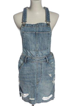 H&M DENIM Overgooier overall rok blauw casual uitstraling