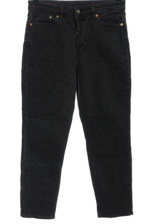 H&M DENIM Mom-Jeans schwarz Casual-Look