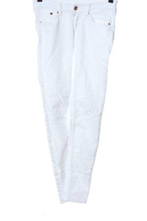 H&M DENIM Drainpipe Trousers white casual look