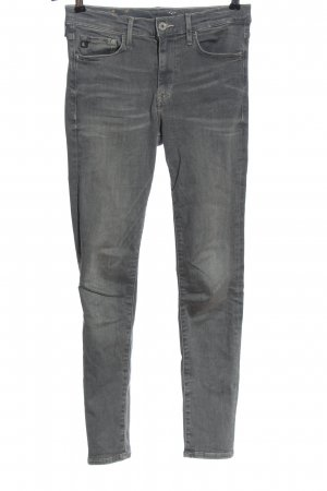 H&M DENIM Röhrenjeans hellgrau Casual-Look