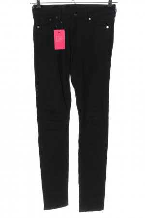 H&M DENIM Skinny Jeans schwarz Casual-Look