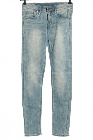H&M DENIM Dopasowane jeansy niebieski W stylu casual