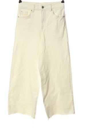 H&M DENIM Straight-Leg Jeans wollweiß Casual-Look