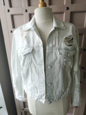 H&M Destroyed Jeans Jacke Denim Gr 38