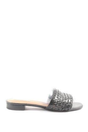 H&M Sandały plażowe czarny-w kolorze białej wełny W stylu casual