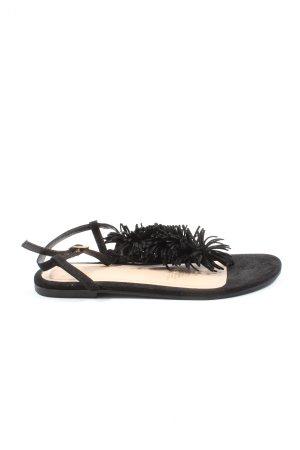 H&M Sandalias Dianette negro look casual