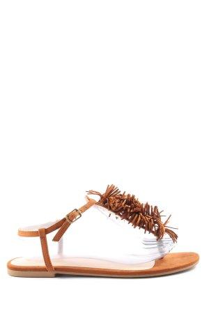 H&M Sandały japonki brązowy W stylu casual