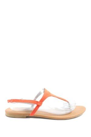 H&M Dianette sandalen licht Oranje casual uitstraling