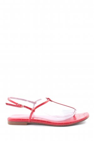 H&M Dianette sandalen rood volledige print casual uitstraling