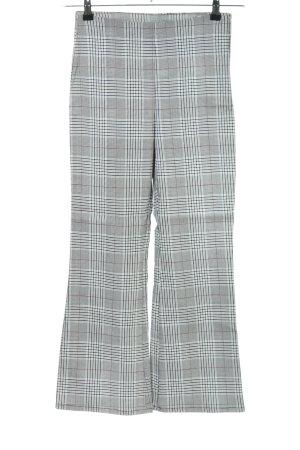 H&M Divided Spodnie 7/8 Wzór w kratkę W stylu biznesowym