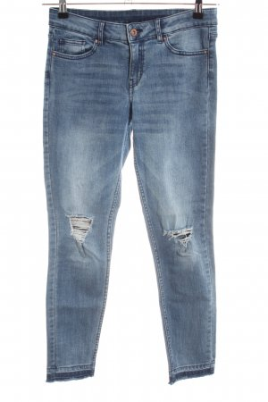 H&M Divided 7/8-jeans blauw casual uitstraling