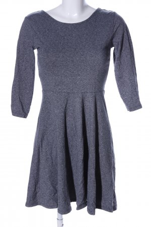 H&M Divided A-Linien Kleid hellgrau meliert Casual-Look