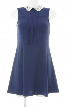 H&M Divided A-Linien Kleid blau-weiß Elegant