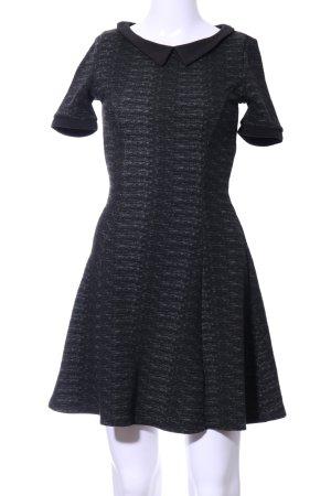 H&M Divided A-Linien Kleid schwarz meliert Elegant