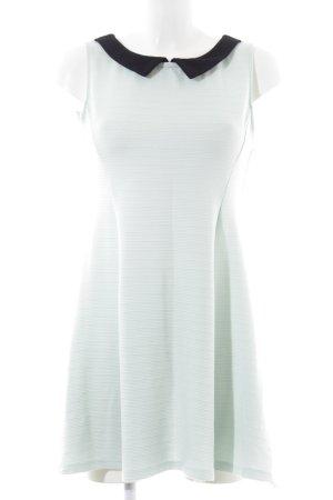 H&M Divided A-Linien Kleid türkis-schwarz Elegant