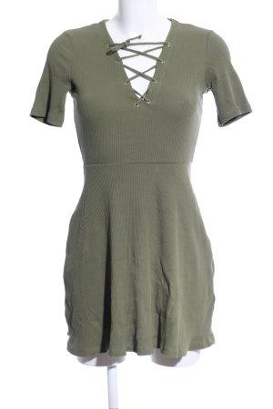 H&M Divided A-Linien Kleid khaki Casual-Look