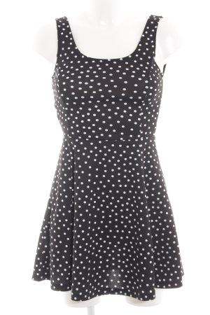 H&M Divided A-Linien Kleid schwarz Punktemuster Casual-Look