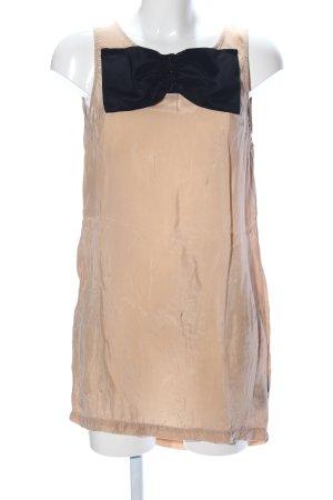 H&M Divided A-Linien Kleid nude-schwarz Casual-Look