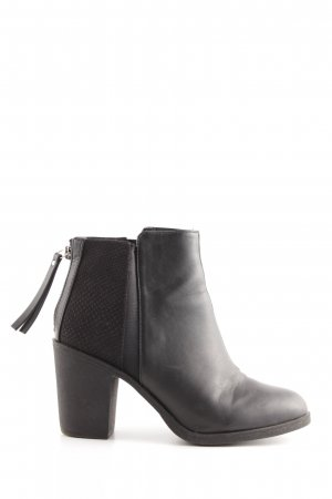 H&M Divided Absatz Stiefel schwarz Animalmuster Business-Look