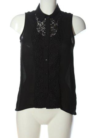 H&M Divided ärmellose Bluse schwarz Business-Look