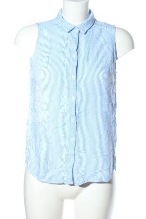 H&M Divided ärmellose Bluse blau-weiß Streifenmuster Business-Look