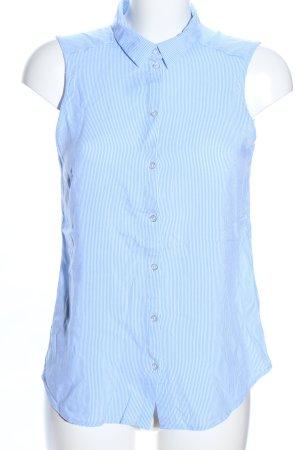 H&M Divided ärmellose Bluse blau-weiß Streifenmuster Casual-Look