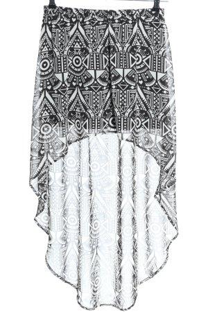 H&M Divided Falda asimétrica negro-blanco elegante