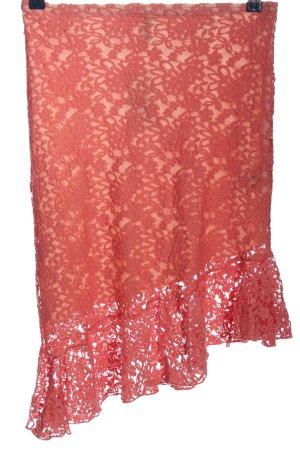H&M Divided Asymetryczna spódniczka różowy-czerwony Wzór w kwiaty