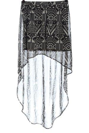 H&M Divided Asymetryczna spódniczka czarny-jasnoszary Na całej powierzchni