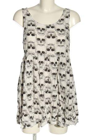 H&M Divided Vestido babydoll blanco-negro look casual