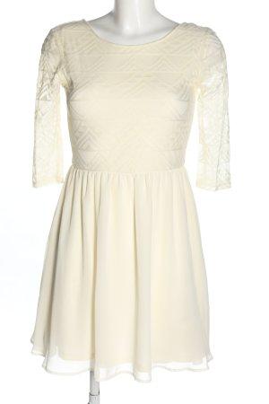 H&M Divided Robe Babydoll blanc cassé motif rayé élégant