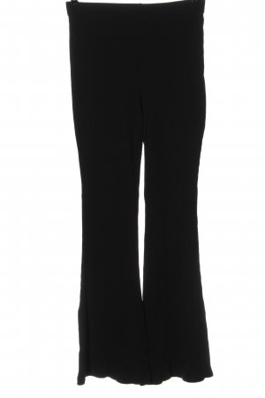 H&M Divided Baggy Pants schwarz Zopfmuster Casual-Look