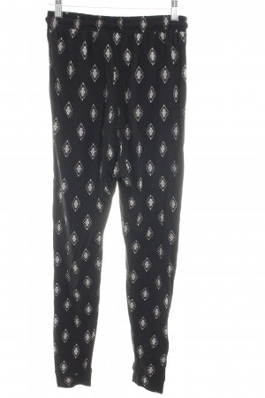 H&M Divided Baggy Pants schwarz abstraktes Muster Casual-Look