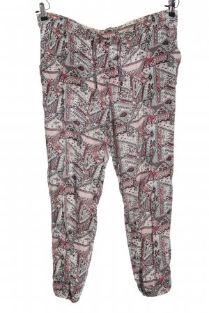 H&M Divided Baggy Pants hellgrau-pink Allover-Druck Casual-Look