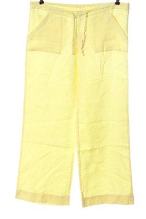 H&M Divided Luźne spodnie bladożółty W stylu casual