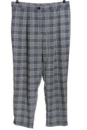 H&M Divided Baggy Pants schwarz-weiß Karomuster Casual-Look