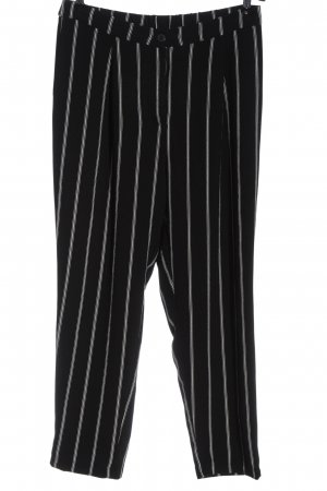H&M Divided Baggy Pants black-natural white striped pattern casual look