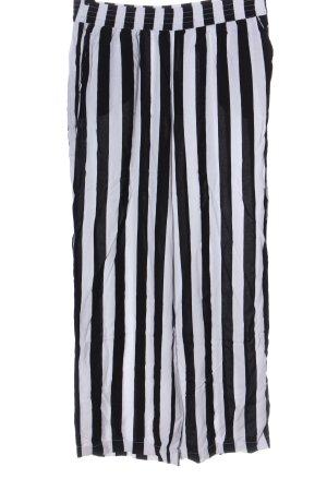 H&M Divided Pantalon «Baggy» blanc-noir motif rayé style décontracté