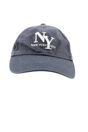 H&M Divided Cappello da panettiere nero-bianco caratteri ricamati stile casual