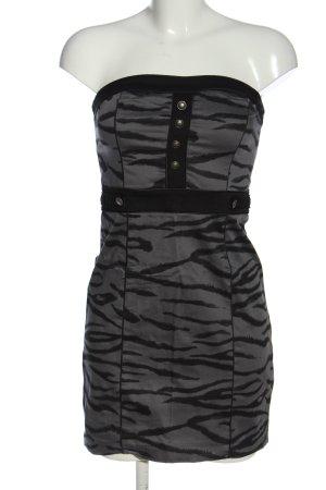 H&M Divided Abito a fascia grigio chiaro-nero motivo animale effetto bagnato