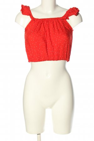 H&M Divided Bandeau top rood-wit gestippeld patroon casual uitstraling