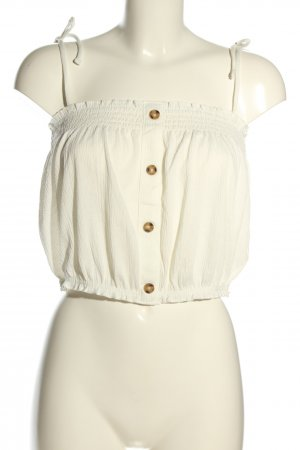 H&M Divided Top bandeau blanco puro look casual