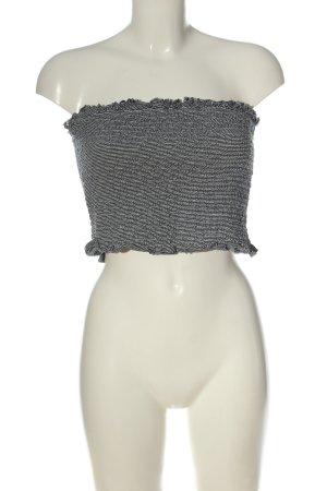 H&M Divided Haut bandeau noir-blanc style décontracté