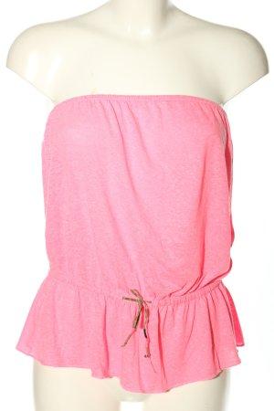 H&M Divided Top z dekoltem typu bandeau różowy Melanżowy W stylu casual