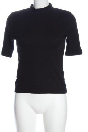 H&M Divided Basic-Shirt schwarz Casual-Look