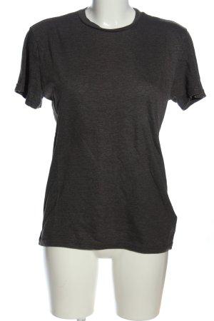 H&M Divided Basic-Shirt schwarz meliert Casual-Look