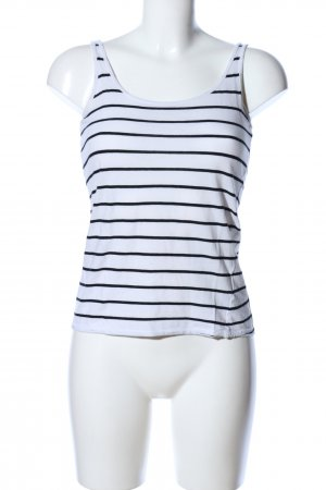 H&M Divided Top basic bianco-nero stampa integrale stile casual